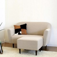 Japanese minimalist small apartment sofa Modern fabric