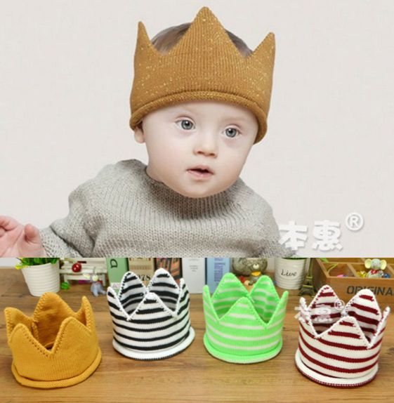 c8a987099d2 ... Baby Hat New Arrival Super Cute Fashion Striped Crown Unisex Fitted Baby  Hats Newborn Boy Girl Kids Toddler Infant Caps US   2.27  piece ...