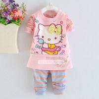 2015 New Spring autumn Hello Kitty baby girl clothes kids ...