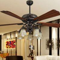 fashion ceiling fan lights retro style fan lamps bedroom ...