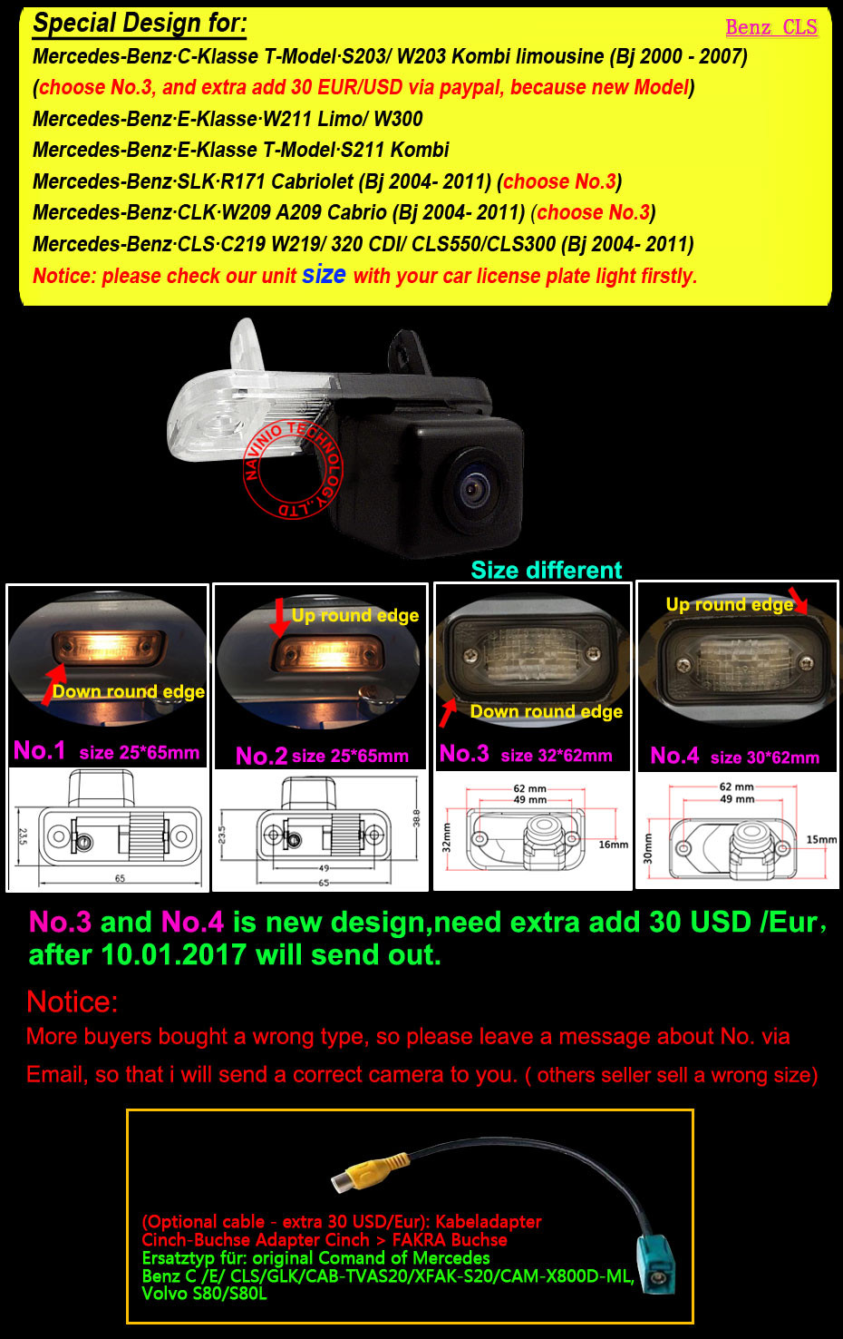 Color Ccd Rearview Backup Reverse Camera For Mercedes Benz C E Cls 1994 Mercedesbenz E420 Engine Wiring Harness Genuine