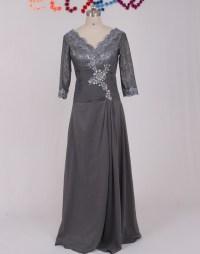New V Neck Appliqued Chiffon Brides Mother Dresses for ...