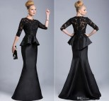 Long Black Dresses Formal Gowns with Sleeves