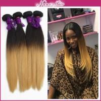 Ombre Hair Weave Brazilian Straight 1b 27 color 3 Bundle ...
