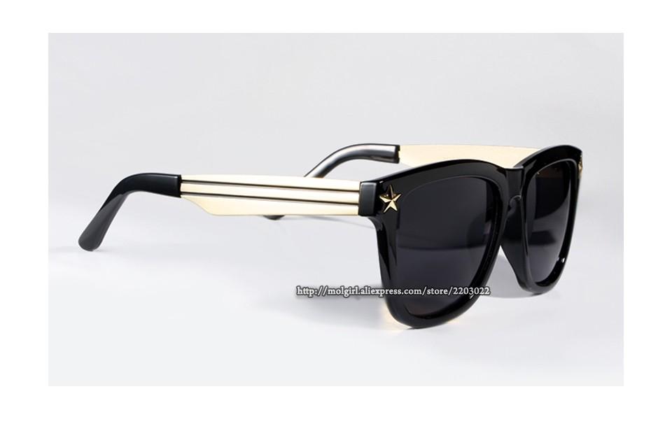79124569e13104 Hommes lunettes de Soleil Célébrités Style Ultra Noir Lunettes de Soleil  Femmes Marque De Mode Conception UV400 2016 Nouveau Lunettes