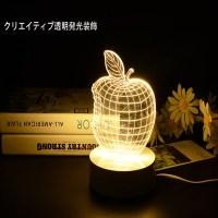 Creative Home Decor 1Piece 3D APPLE NIGHT LAMP Acrylic ...