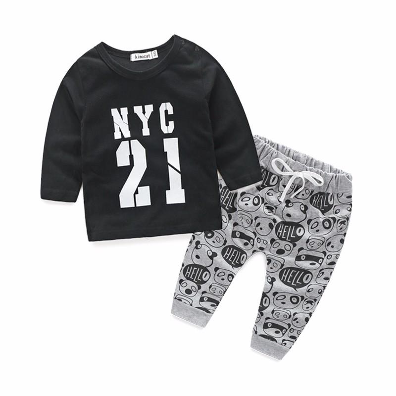 `10  New 2016 autumn child boy clothes set cotton lengthy sleeve t-shirt+pants vogue child boy garments toddler 2pcs swimsuit HTB15wWnNXXXXXXmaFXXq6xXFXXXV