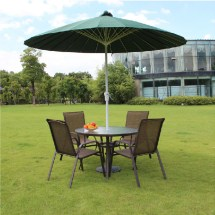 Outdoor Sun Umbrella Fiberglass T Single Straight Lift
