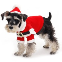 2015 New Design Cute Christmas Dog Clothes Santa Pet