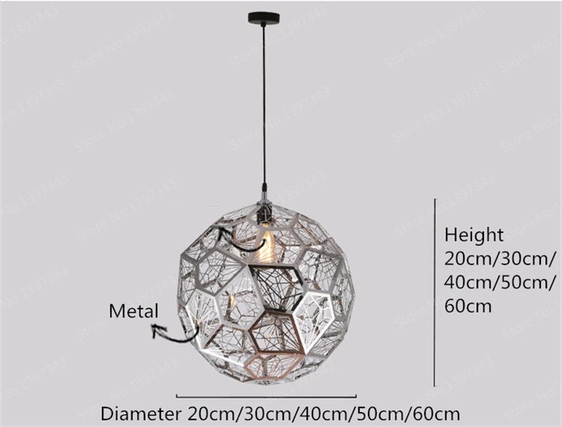 Led Luces Metal Suspensión Cobre Luminaria Iluminación Lámpara Colgantes De Accesorios Plata Moderna Bola Nórdico Colgante 8PXk0wOn