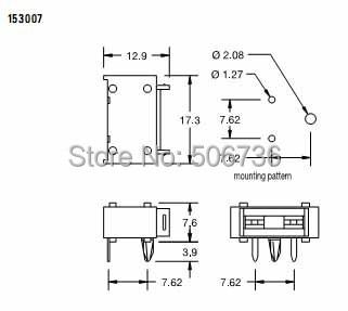 SL 1537 MINI Style car Blade PCB Mount Auto fuse holder