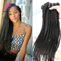 virgin brazilian braided human hair straight bundles ...