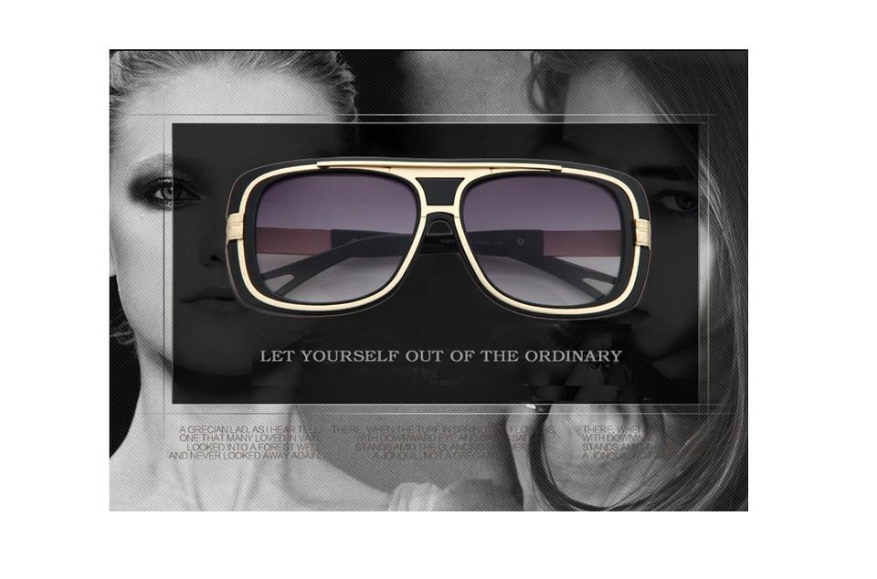 3e8aa52572246e Mode Grande Boîte lunettes de Soleil Double Faisceau Rétro En Métal lunettes  de Soleil Femmes Hommes Lunettes de Soleil UV400Protection 2016