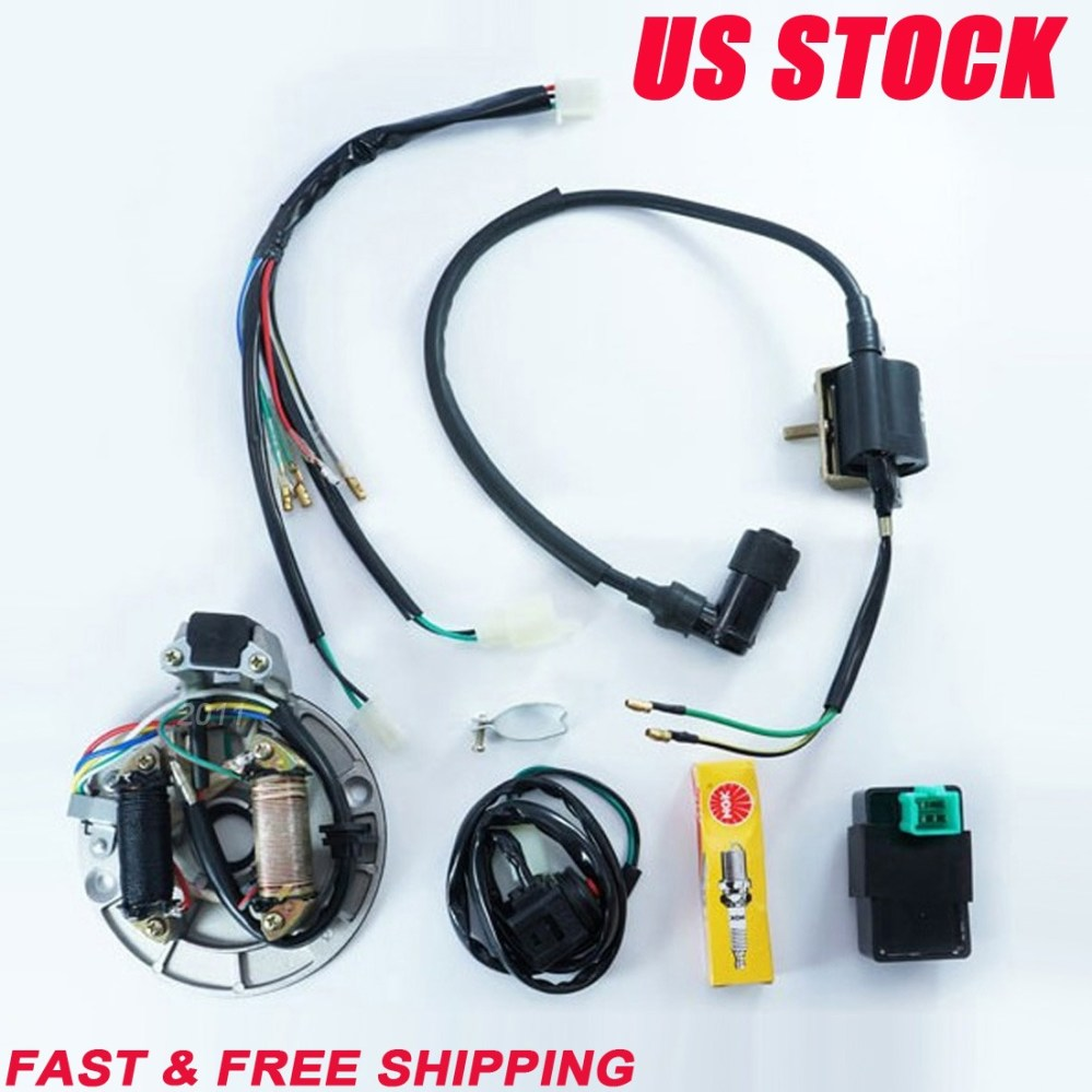medium resolution of detail feedback questions about tdpro 50cc 110cc 125cc motorcycle cdi coil stator magneto plug wire harness loom fits 50cc 110cc 125cc pit dirt bikes on