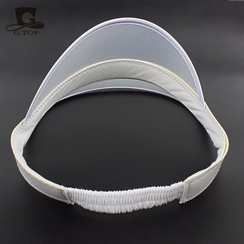4dd70e9e898 12pcs lot Neon Sun Visor Peak Cap Clear Plastic Sunvisor Party Hat ...