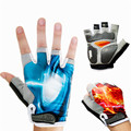 Bike Gloves Half Finger Cycling Gloves Fingerless Summer Anti Slip Breathable Motorcycle Road Bike Gloves Hiking