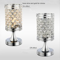 Buy Modern Small crystal Table lamps brief bedroom bedside ...