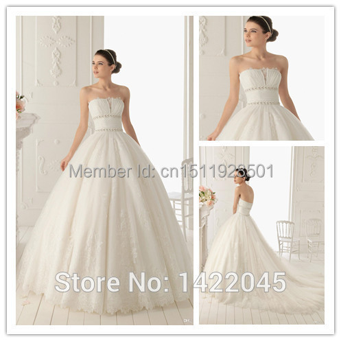 Backless Wedding Dress Buttons Hot Strapless Lace Down the