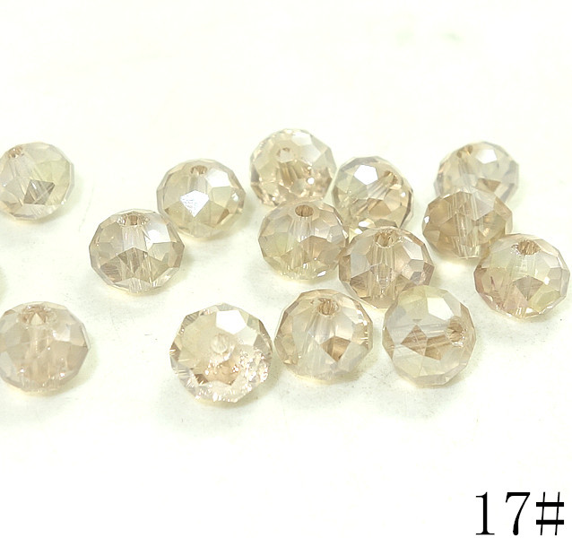 40pcs Black Rondelle Faceted Crystal Glass Loose Spacer Bead 8mm Jewelry & Accessories