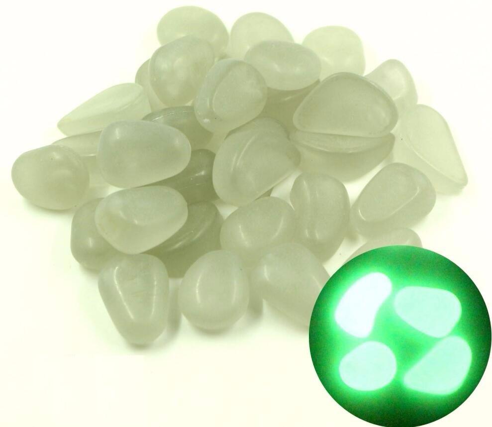 ✓500g Glow In Dark Irregular Stone Luminous Beads For Home ...