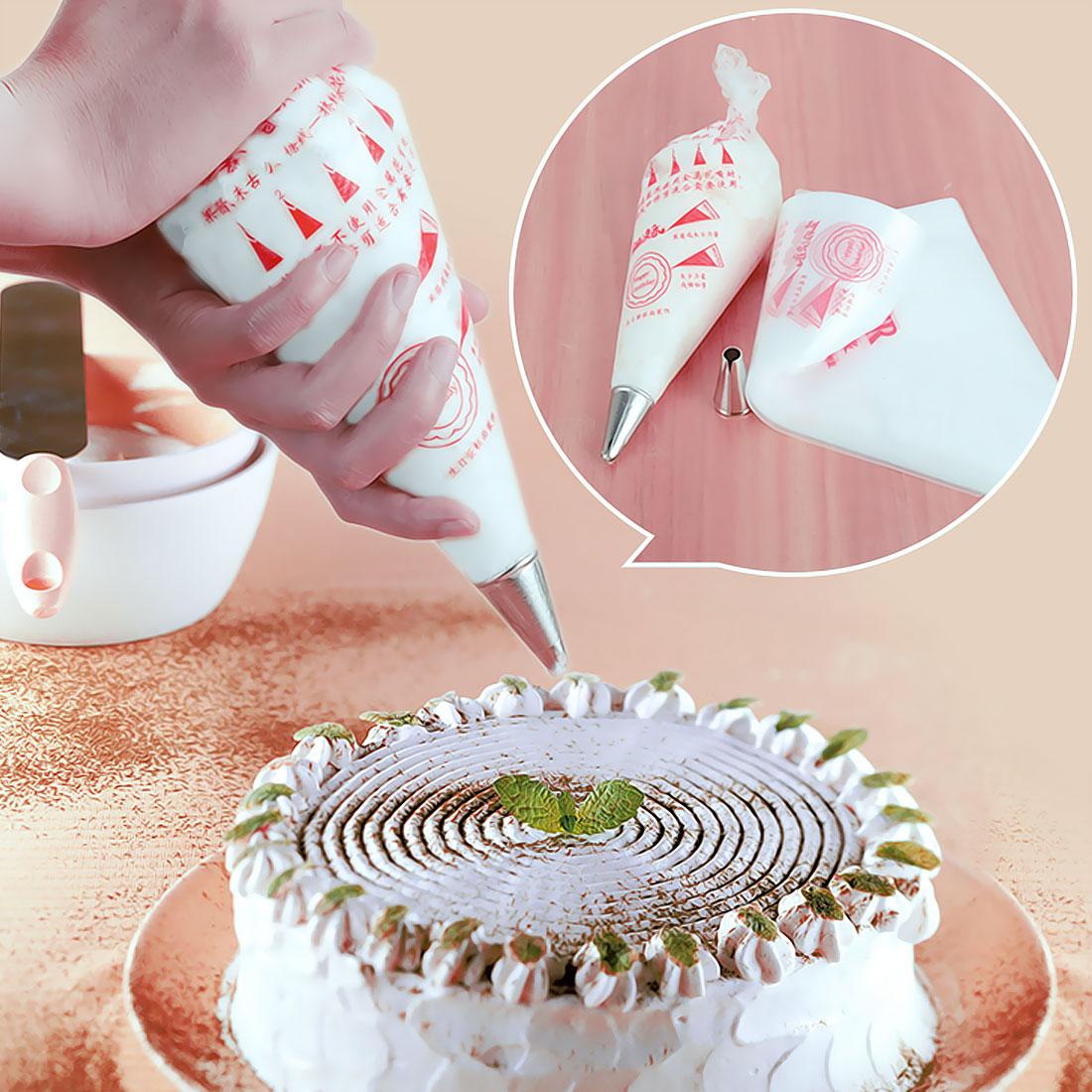 ✓100 unids/set grande desechable pastel pastelería Cupcake Icing ...