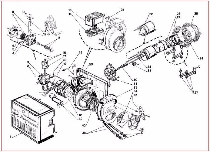 riello 40g5lc uno stadio diesel bruciatore bruciatore a gasolio Honda Shadow 600 Wiring Diagram sensi di trasporto