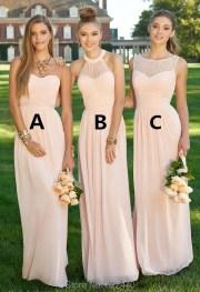 group long bridesmaid dresses three