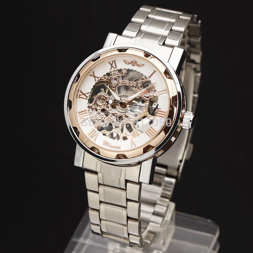 59d5628bf1c ̿̿̿(•̪ )Top marca winner hombres reloj caliente de acero inoxidable ...