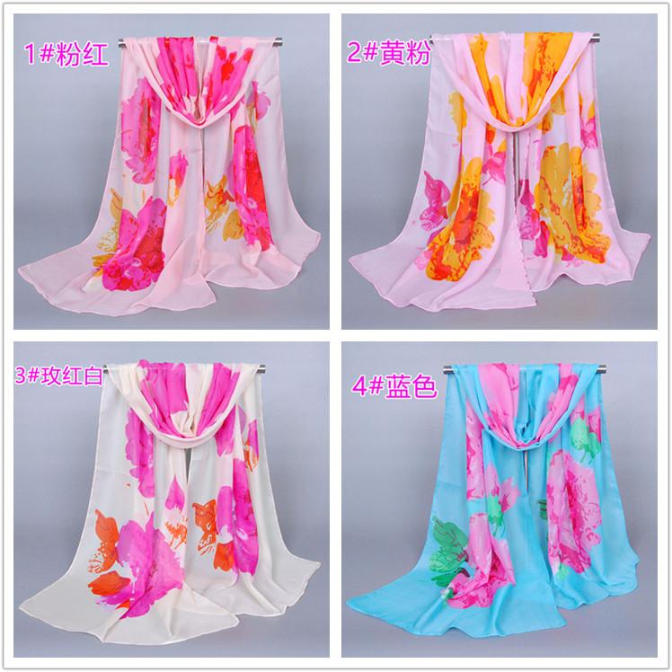 ᗗЛидер продаж женские с цветочным принтом шарф/шарфы ...