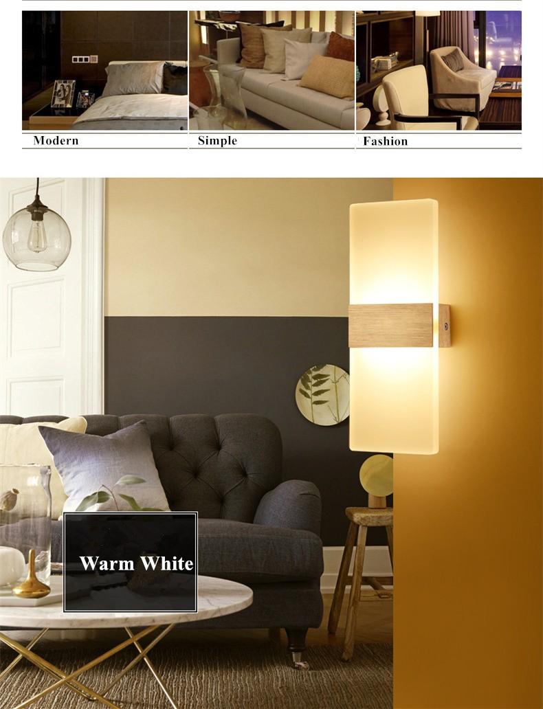 №Modern Style LED Bedside Wall Lamp living sitting room foyer ...