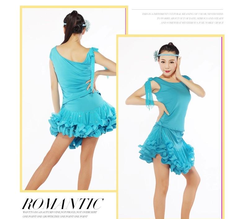 48a1b6ebda Latino falda gourmet hielo seda Lentejuelas neto Hilado dancewear rojo azul  Negro amarillo verde Cha cha rumba samba falda de baile