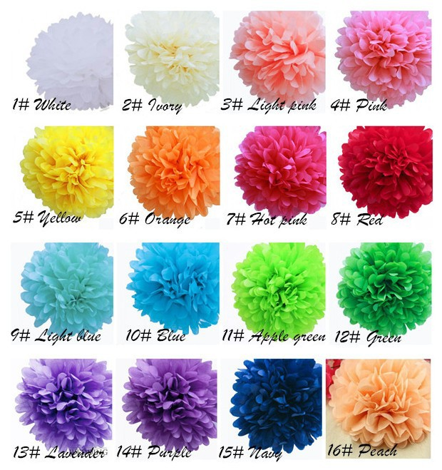 wholesale 8 inch 20cm 100 pcslot tissue paper hanging pom have stock mightylinksfo