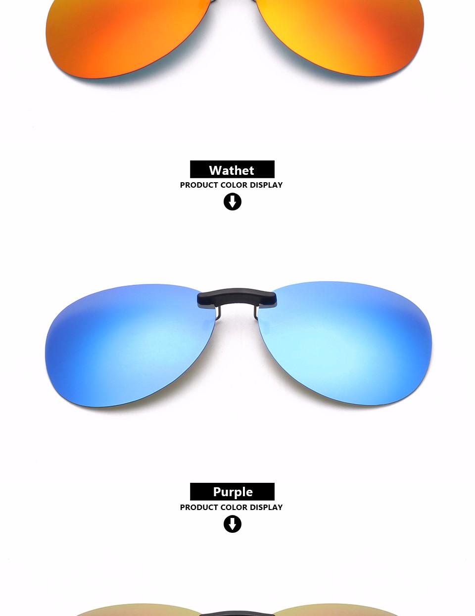 a10bc898c5ec5 ᐃClipe de óculos de sol Mulheres Polarizada Clip sobre óculos de ...