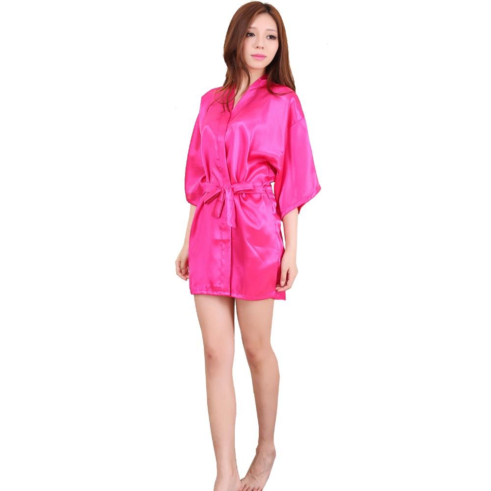 ̿̿̿(•̪ )Rb029 2017 nueva llegada corto estilo mujer kimono de seda ...