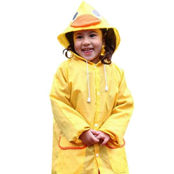 2016 Yellow Children Cute Duck Raincoat Boys Girls