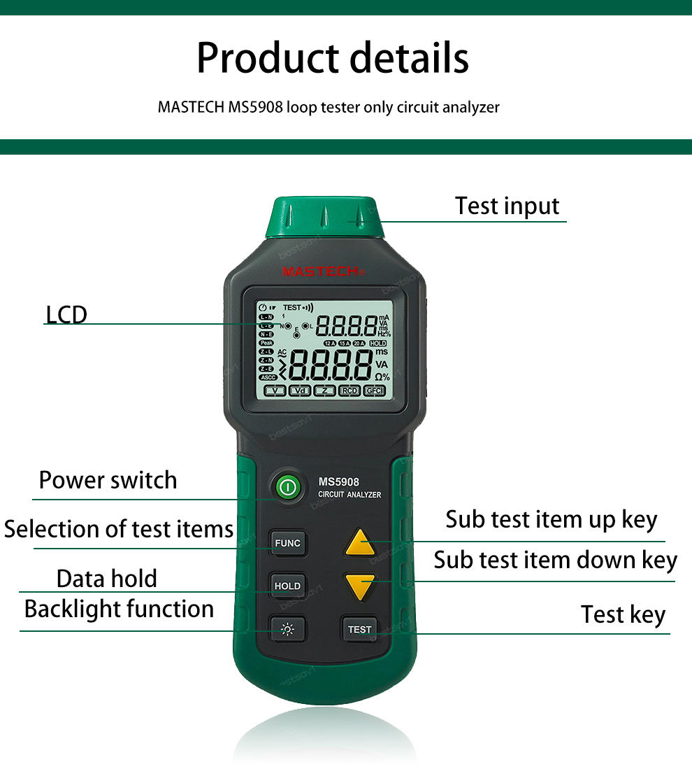 Mastech Ms5908 Rms Circuit Analyzer Tester Compared W Ideal Fantastic Item For Testing 6 12v Circuits Getsubject Aeproduct