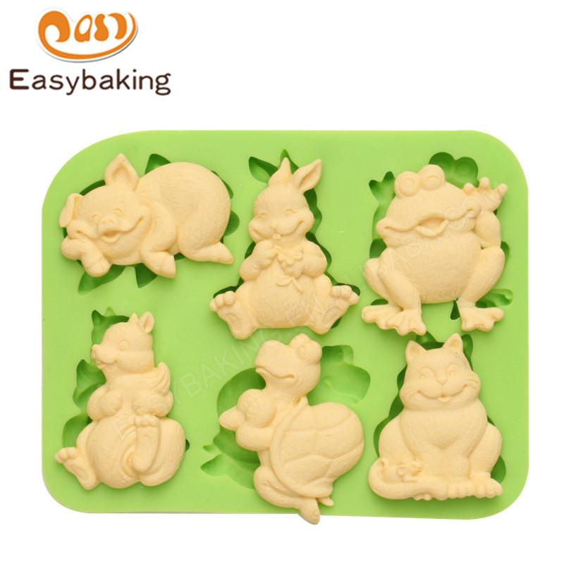 Soap Baking Mold Cake Topper Animal Sugarpaste Non Stick Bird Silicone Mold 6T