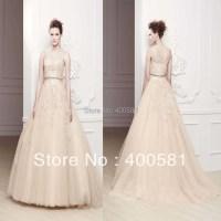 Striking Illusion Neckline Sleeveless Ball Gown Appliqued ...