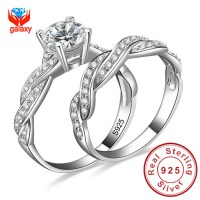 Infinity Love Simulated Diamond Engagement Wedding Ring ...