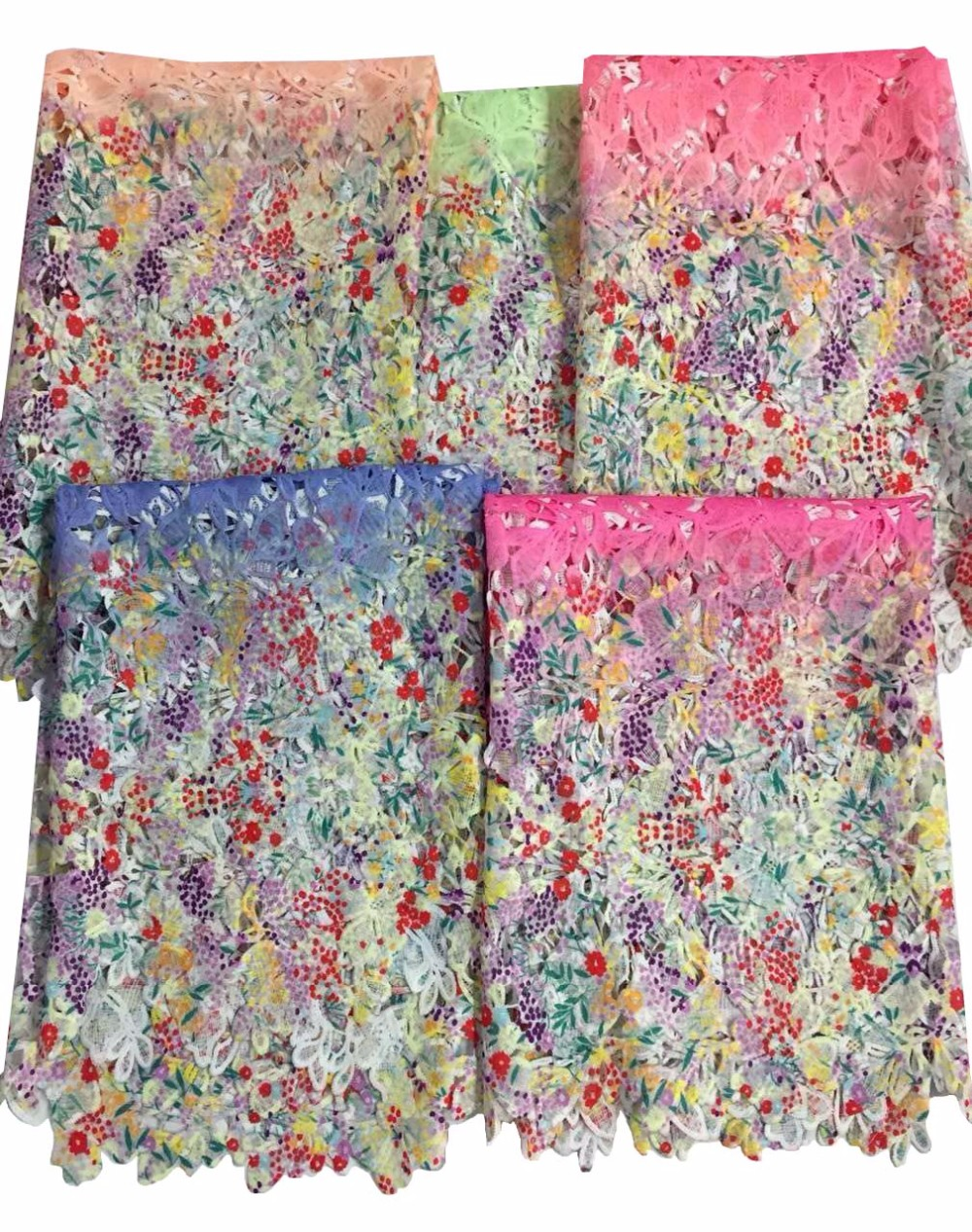 ①Free shipping multicolor African swiss voile lace high quality ... 75c85614414d