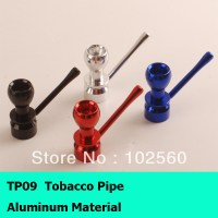 Free shipping aluminum tobacco pipe can choose any color ...