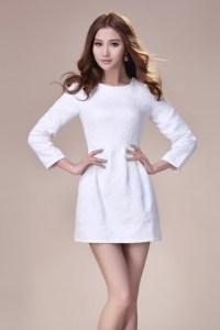 winter white black pullover small fragrant dress women ...