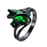 Aliexpress.com : Buy Elegant Black Gold Filled Emerald CZ