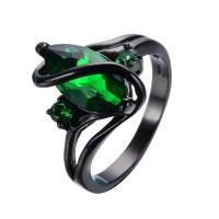 Aliexpress.com : Buy Elegant Black Gold Filled Emerald CZ ...