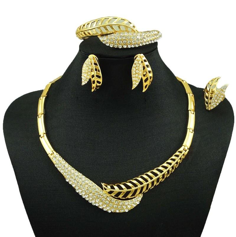 061c16a4ec21 Joyería India Dubai joyas de oro collar moda mujeres joyería fina 24 K  conjuntos de joyas de oro