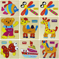 kaiyunniu 15cmX12 5cm Wooden Blocks Animals Kid Children Educational Toy AGU 03