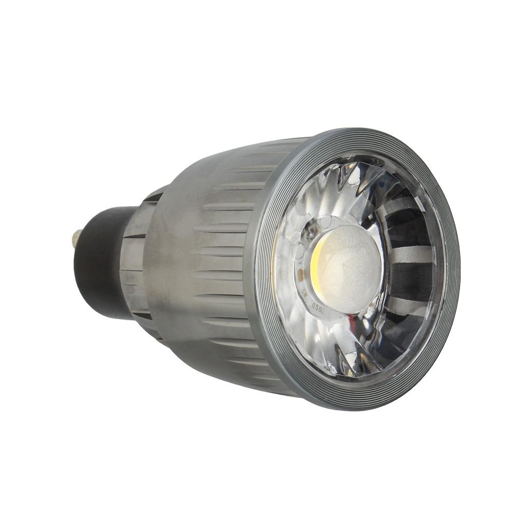 Elue Feu LED Downlight Noir Chromé 5 W GU10 mains 240v Spotlight plafond