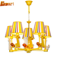 HGhomeart Led Pink Chandelier Light E14 110V 220V Chinese Chandeliers Led Lamps Home Lighting Modern Staircase
