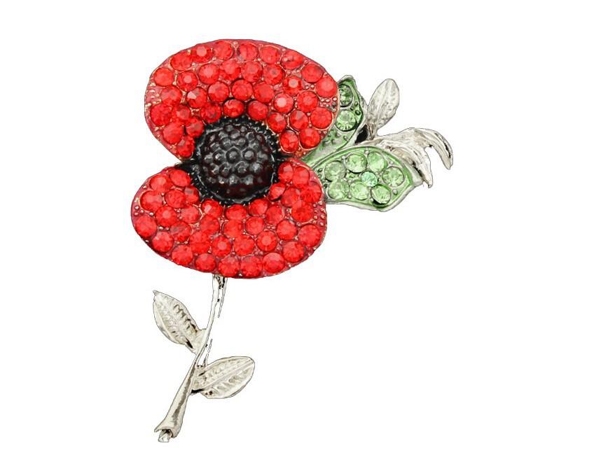 ჱEnvío libre de DHL 60 unids/lote cristal rojo hermoso Poppy flor ...