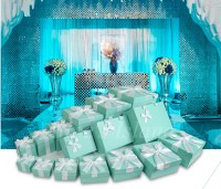 7pcs/set Tiffany Blue ideas wedding decoration boxes theme ...